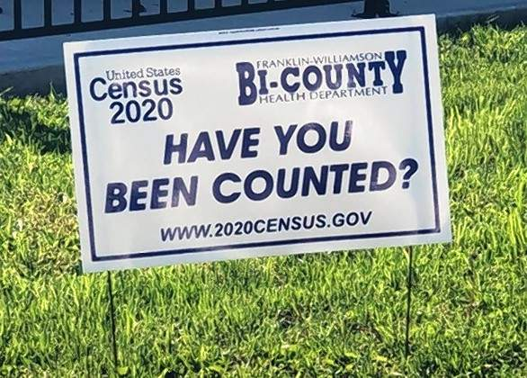 Signs like this are scattered through southern Illinois, urging citizens to complete the 2020 census.