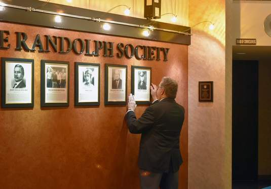 The wall of fame inside the Randolph County courthouse.