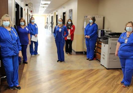 The layout of the medical-surgical unit is designed for improved staff workflow, as well as patient needs.