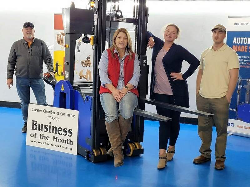 From left, owners Rhett and Cathy Rinne and Lauren and Eric Van DeMark.