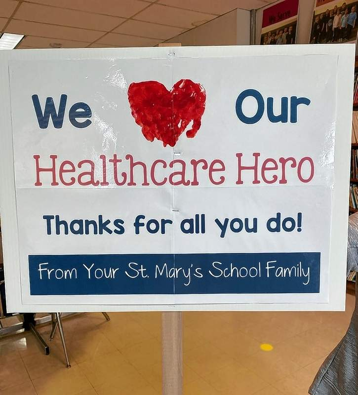 On Monday of Catholic Schools Week, the school honored the medical workers in Chester.