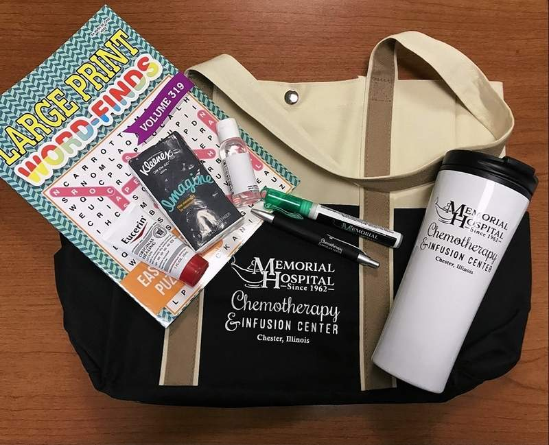 Some of the contents of a patient care bag.