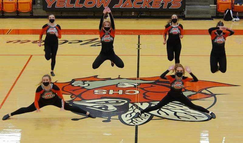 The Dance Team performs their winning routine one more time, for parents and friends.