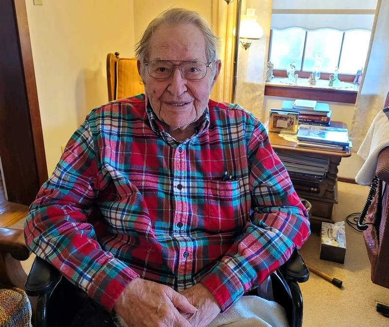 Ralph Kipp in the home he's lived in all his life.