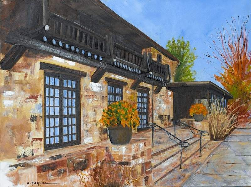 """""""The Lodge Giant City State Park"""" by Christy Poggas will be on display in the Ella Elizabeth Hise Museum of Regional Art main gallery during her and her husband's exhibit An Intimate Portrait of Southern Illinois on display from June 1- Sept. 12."""