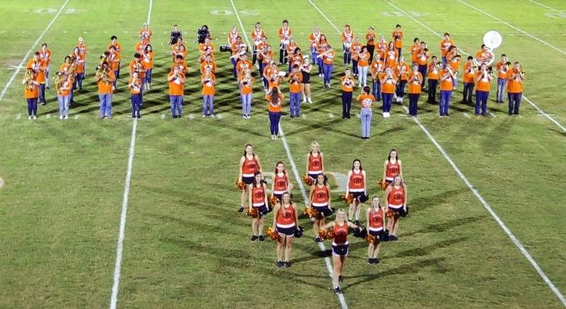 """The Chester High School Band and Dance Team perform their 2021 halftime show, """"Guardians of the Galaxy"""" at Friday's home opener."""