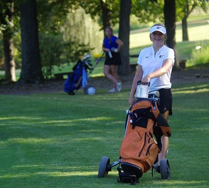 Rookie golfer Rylie Conley, a CHS freshman, had a personal-best match at the Chester Country Club on Aug. 26.