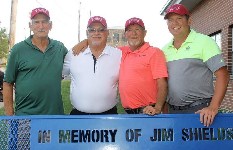 The Championship Flight, from left, is Jerry Rednour, Dale Denault, Rusty Ehlers and Cale Young.