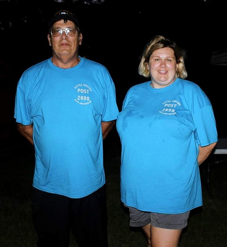 Sparta VFW Post Commander Ken Hall and Auxiliary President Kristy Hall