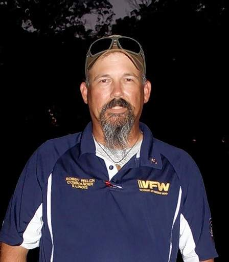Illinois State VFW Commander Bobby Welch.