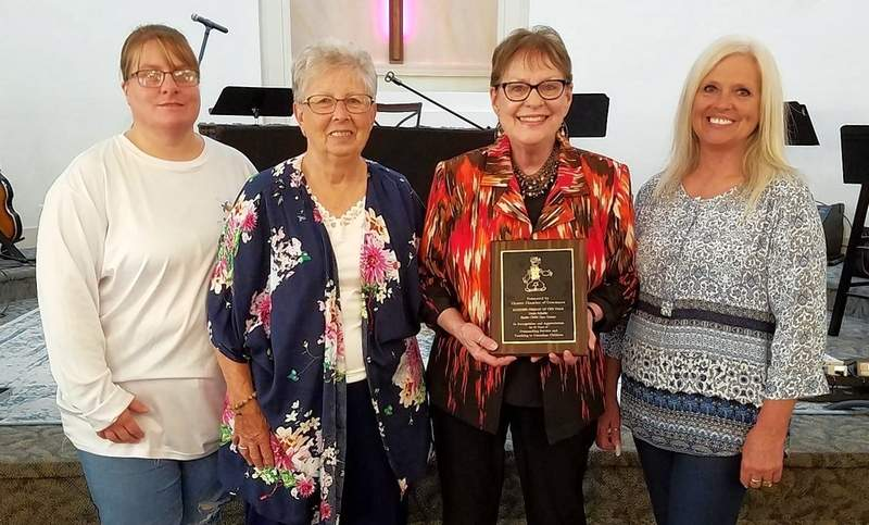 From left, Megan Ritz, Suzann Spindler, Linda Schafer and Lois Wingerter were the tight little group that ran the day care.