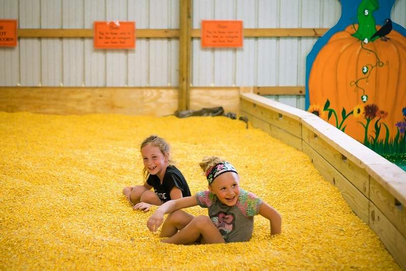 Sisters Ellie and Eva Culkin of Metropolis jumped, played, and laughed in the Play Barn.