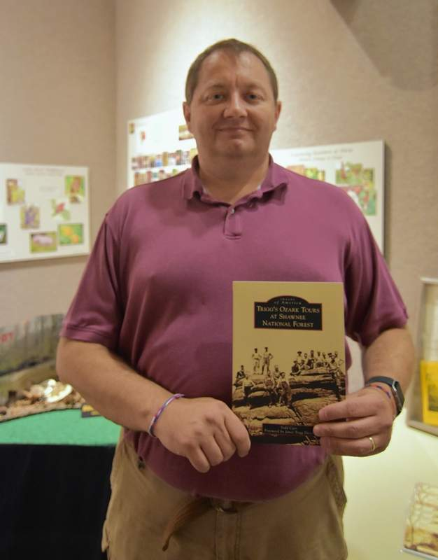 Author Todd Carr, a native of Cave-in-Rock, and the author of several books about southeastern Illinois history. He is taking part in several Ferry Tales events.