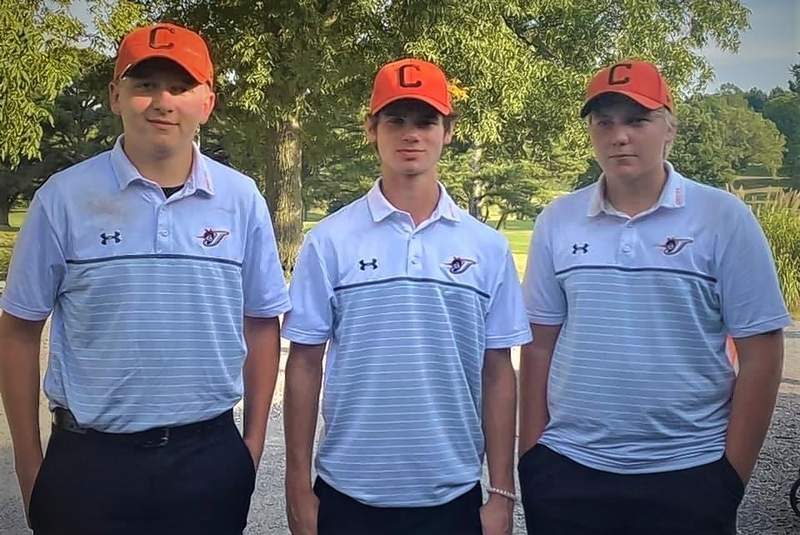From left, Gage Hasemeyer, Chance Mott and Clayton Andrews are headed to sectionals.