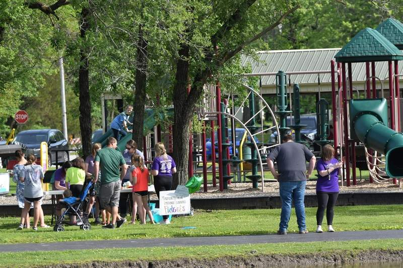 Family members joined their children and grandchildren to celebrate the end of the school year at Harrisburg Township Park.